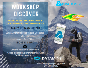 19 MARZO | Workshop Discover 2019