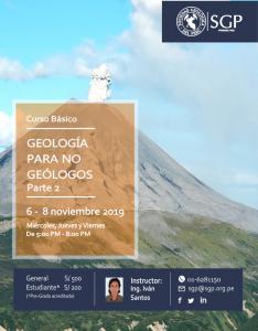 06 – 08 NOVIEMBRE | Geología para no Geólogos Parte 2 | CURSO BÁSICO | INSCRIPCIONES ABIERTAS