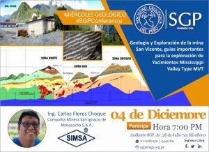 04 Diciembre | GEOLOGÍA Y EXPLORACIÓN DE LA MINA SAN VICENTE, GUIAS IMPORTANTES PARA LA EXPLORACIÓN DE YACIMIENTOS MISSISSIPPI VALLEY TYPE MVT