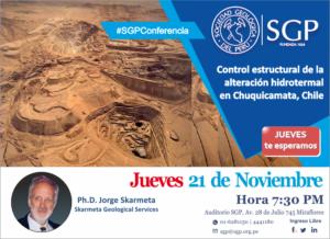 21 NOVIEMBRE | Control estructural de la alteración hidrotermal en Chuquicamata, Chile