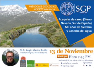 13 NOVIEMBRE | Acequias de careo (Sierra Nevada, Sur de España). Mil años de Siembra y Cosecha del Agua