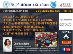 2 DICIEMBRE – 7:00 pm | Más Allá del Cumplimiento: Gestión Responsable Social y Ambiental