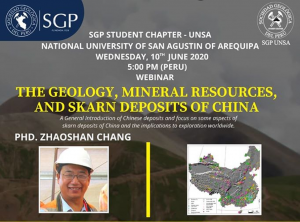 10 junio – 5:00 pm | The Geology, Mineral Resources and Skarn Deposits of China