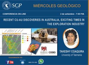 2 SETIEMBRE  – 7:00 pm | RECENT CU-AU DISCOVERIES IN AUSTRALIA, EXCITING TIMES IN THE EXPLORATION INDUSTRY
