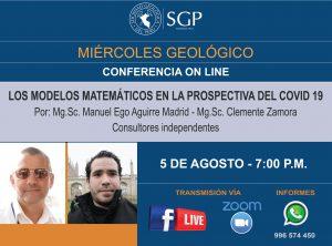 5 AGOSTO  – 7:00 pm | LOS MODELOS MATEMÁTICOS EN LA PROSPECTIVA DEL COVID 19