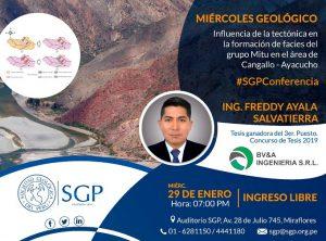 29 ENERO | Influencia de la tectónica en la formación de facies del grupo Mitu en el área de Cangallo – Ayacucho