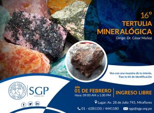 01 FEBRERO | 16º Tertulia Mineralógica