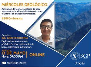 13 MAYO | Aplicación de termocronología de baja temperatura huellas de fisión en circones y apatitos en depósitos minerales