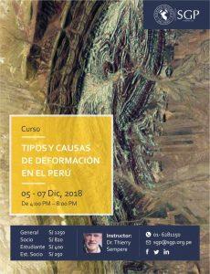 5-7 DICIEMBRE | Curso Tipos y Causas de Deformación en el Perú