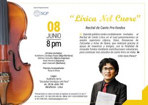 "08 JUNIO | Recital de canto Pro-Fondos ""Lírica Nel Cuore"""
