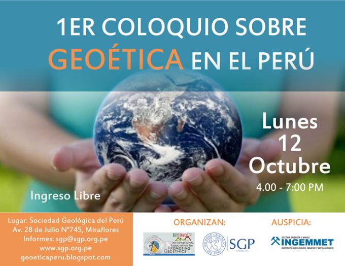 I Coloquio Geoetica flyer