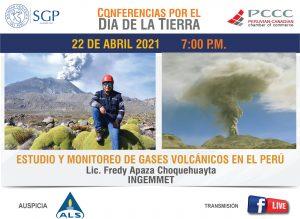 22 ABRIL 2021 – 7:00 pm | ESTUDIO Y MONITOREO DE GASES VOLCÁNICOS EN EL PERÚ
