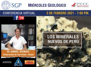 3 FEBRERO 2021 – 7:00 pm | LOS MINERALES NUEVOS DEL PERÚ