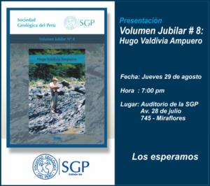 29 Agosto | Presentación Volumen Jubilar Nº 8: Hugo Valdivia Ampuero.